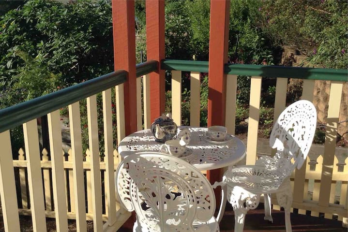 Enjoy your early morning cup of tea on the deck