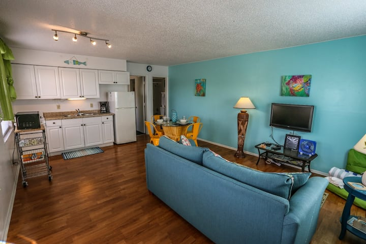 The Deep Sea Dive is a one bedroom apartment at Iguana Mamas Beach House.