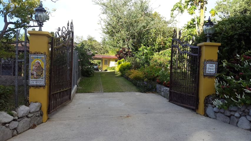 Rental unit is at the end of this entrance to our home.
