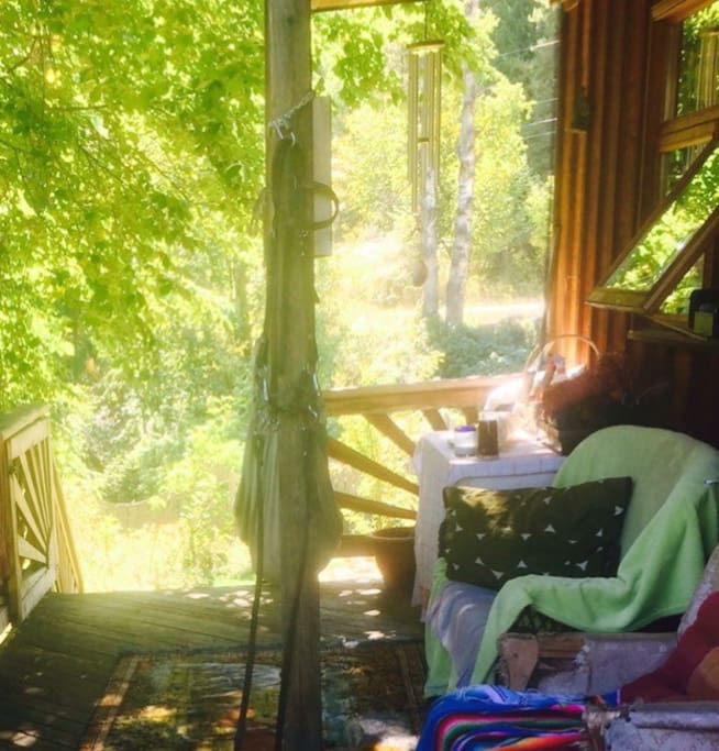 The verandah in July.