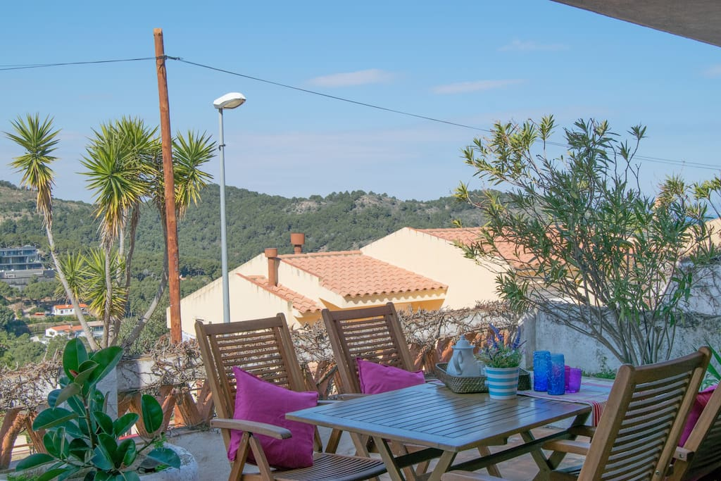 Large terrace with barbeque - SA PUNTA COSTA BRAVA
