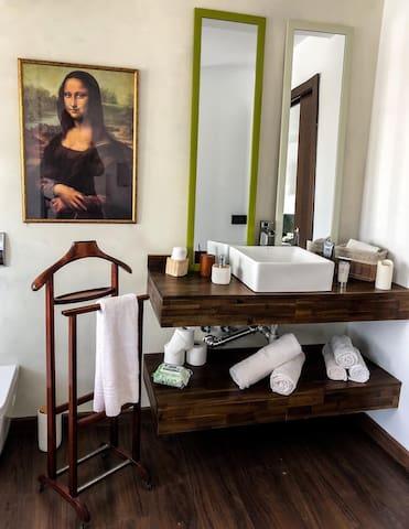camera con bagno en suite