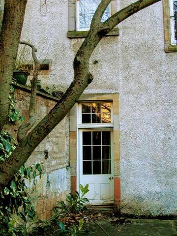 Rear garden door
