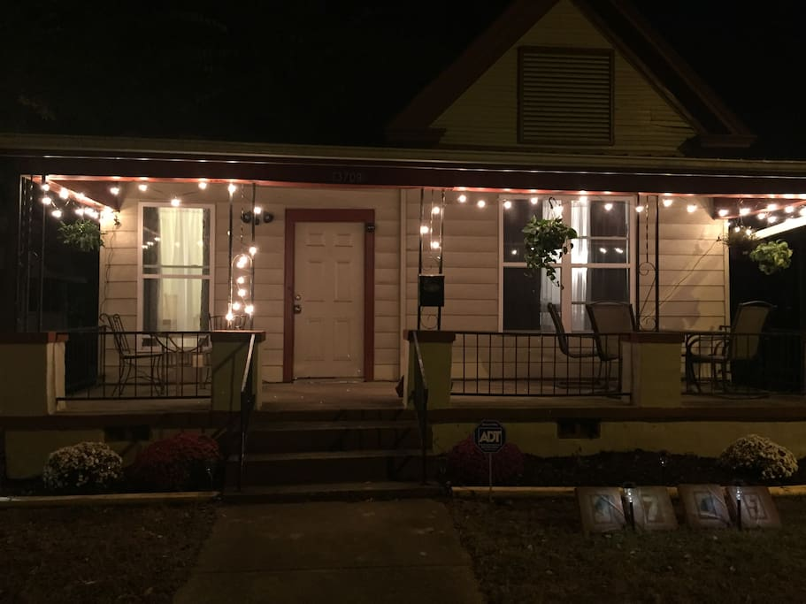 Front of house (night view)
