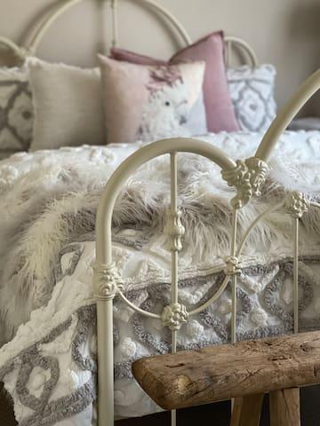 Luxury Queen bed in Bedroom 2, split-system heating & cooling.