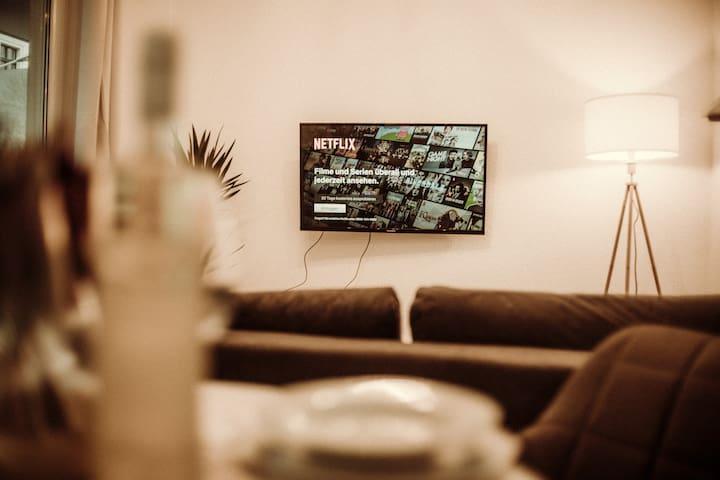 Schiller Apartment, zentrale Lage, Netflix, Balkon
