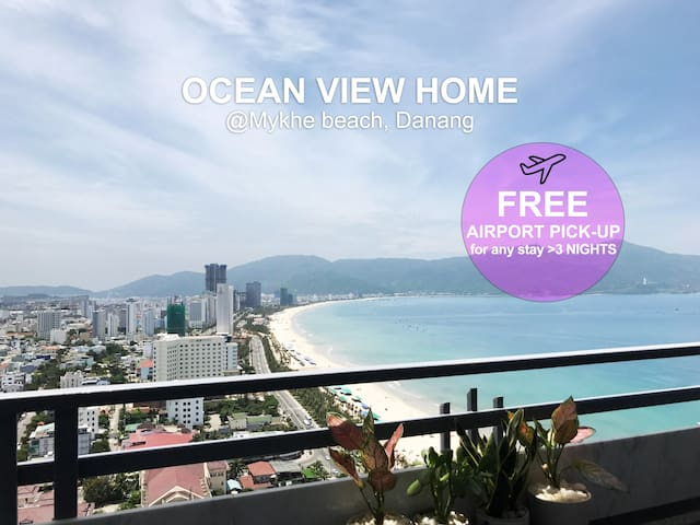 OCEAN VIEW Home 2930 ☆☆☆☆☆ at My Khe beach, Danang