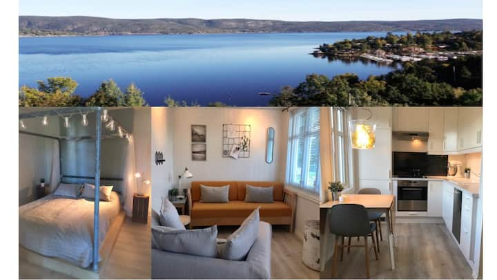 Fully equipped cosy apartment by the fjord&forest