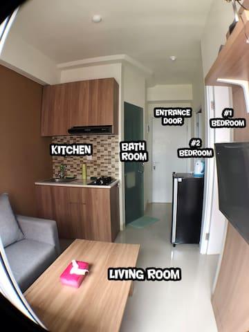 Homey Green Pramuka Brand New 2BR Apartment