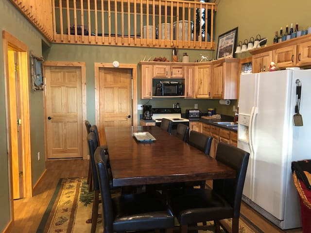 Kitchen hold table seating for 10.