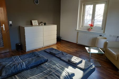 Sunny room with big kitchen and free parking