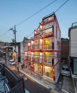 [한남동,이태원] Orange Cube House [Pent House] - Yongsan-gu