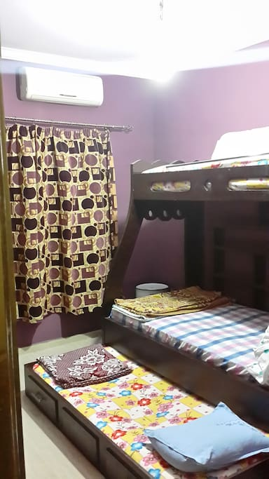 2nd  bed room has 3 beds