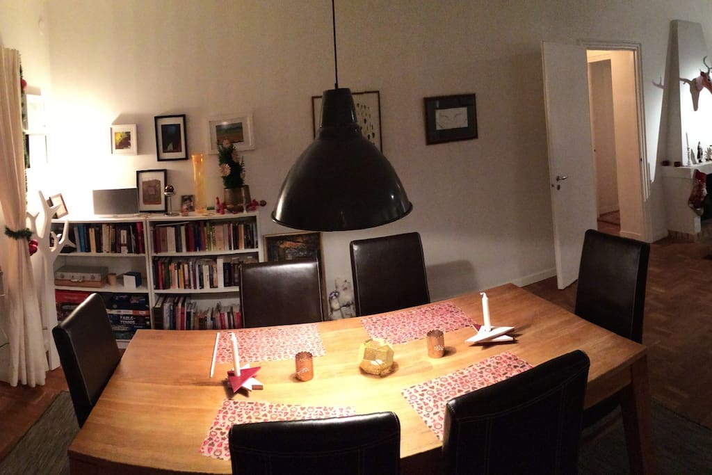 Dinner table in the living room