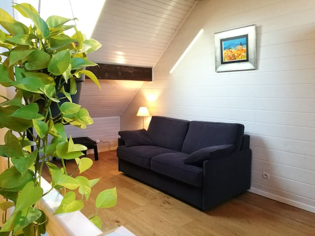 Chambre spacieuse avec mezzanine - Montreuil - Bed & Breakfast