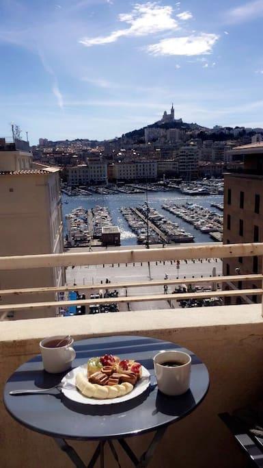 La vue du balcon ☀️☺️