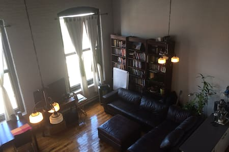 Unique Loft with Books and Gym Area - Montreal