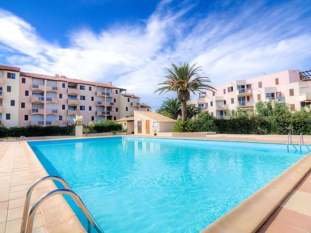 Appartement à st Cyprien Plage Vue sur la mer