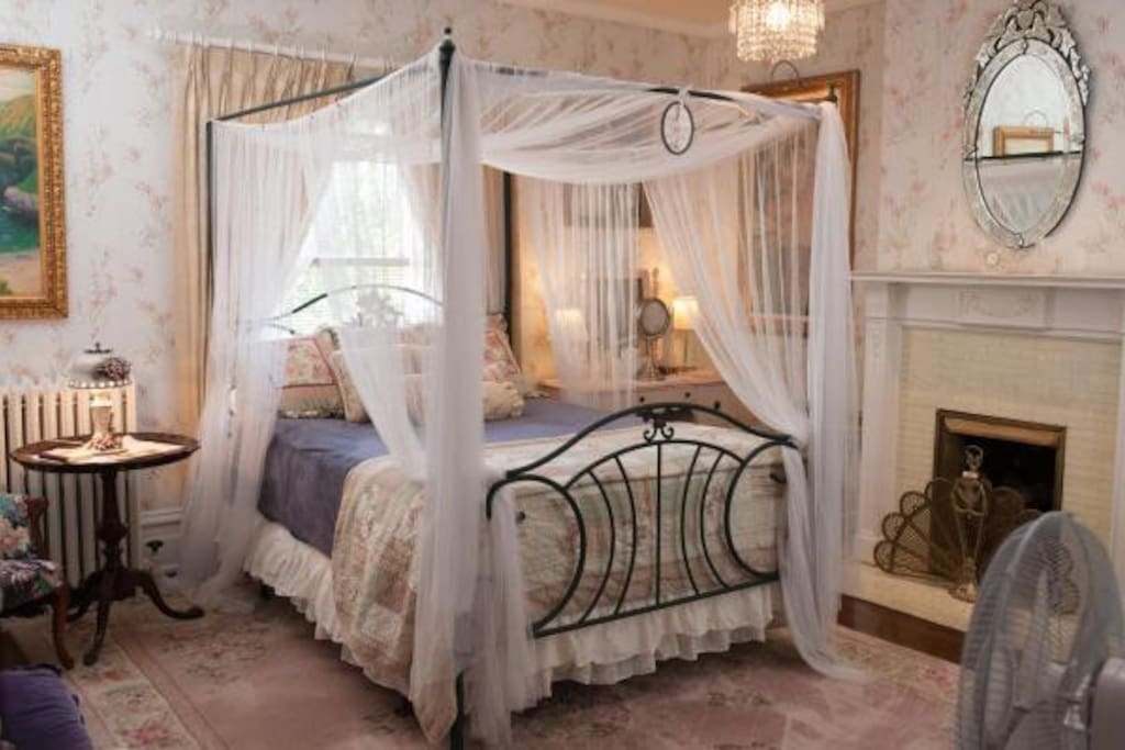 Luxury bedding on a queen size bed.