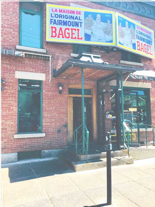 The one and only Fairmount bagel shop is one block away!!