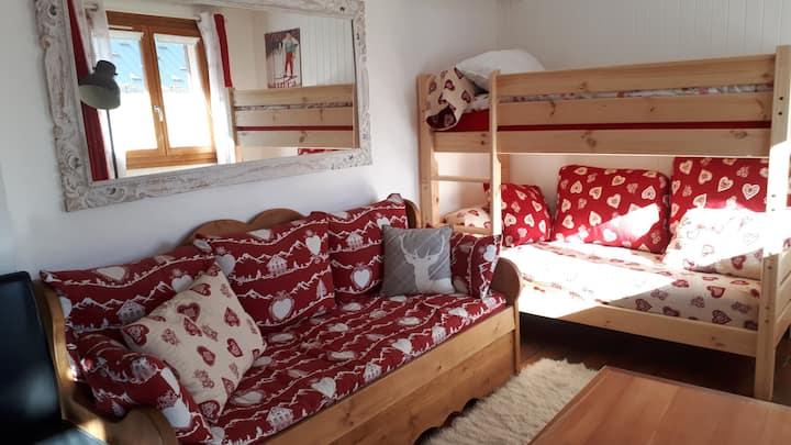 Appartement cosy au RDC d'un chalet individuel
