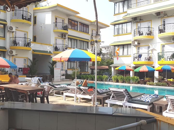 Cozy one bedroom apartment near calangute beach