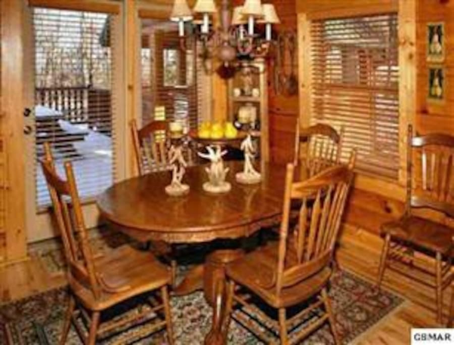 Dining table can be made bigger for family dining!