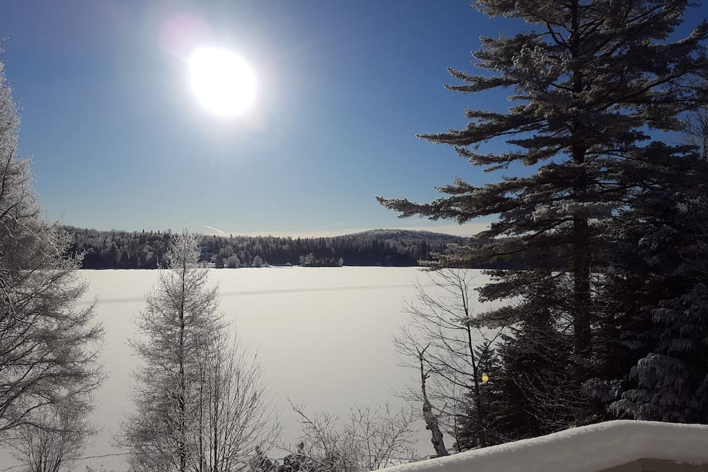Winter view over the lake