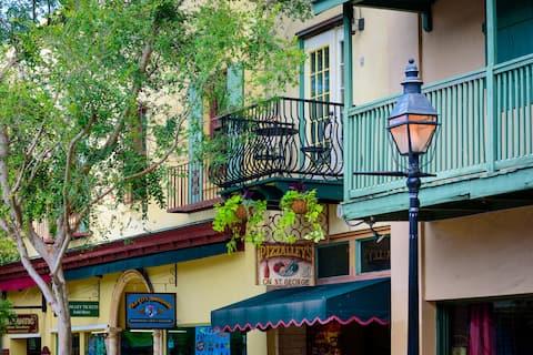 Balcony apt on USA's oldest Street (St. George St)