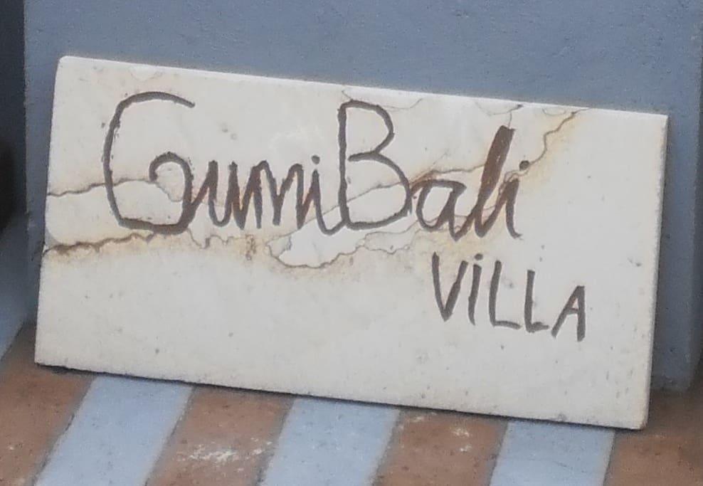 At the front of GumiBali Villa