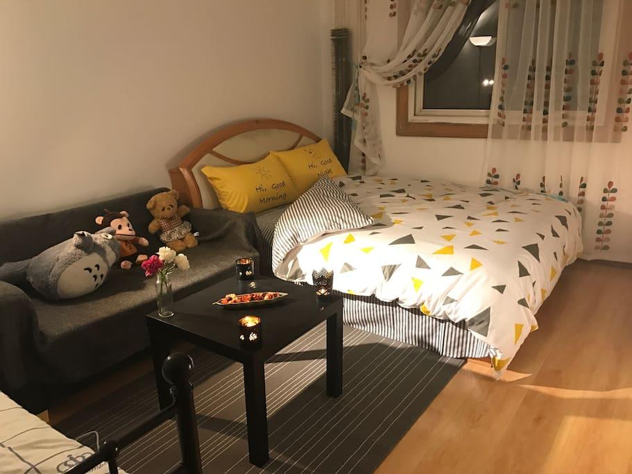 简约的北欧风床单
