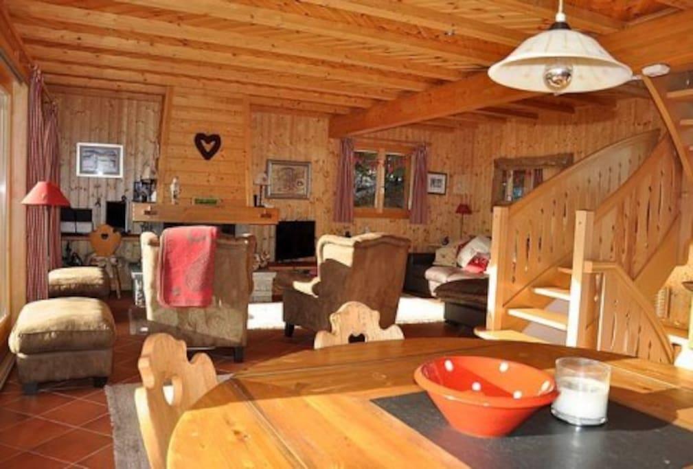 Bel espace salon, salle à manger