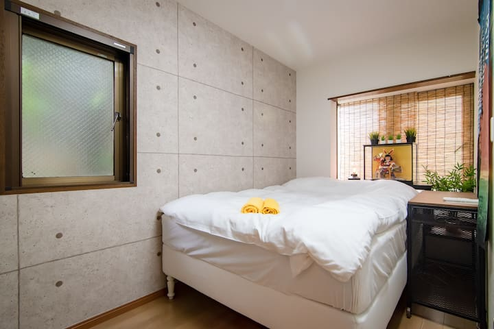 Shinjuku Simple Private Double Bedroom/Free WiFi P