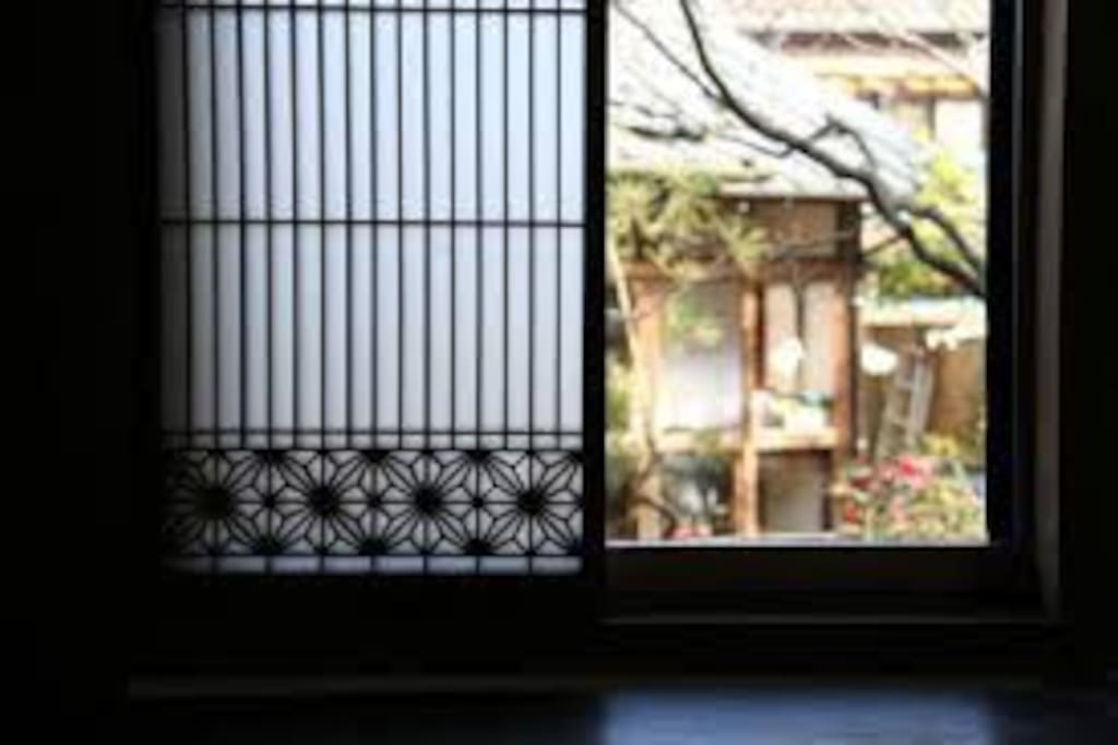 View from the window of the tatami room