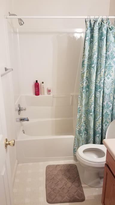 Full Guest Bathroom -- Toiletries Provided