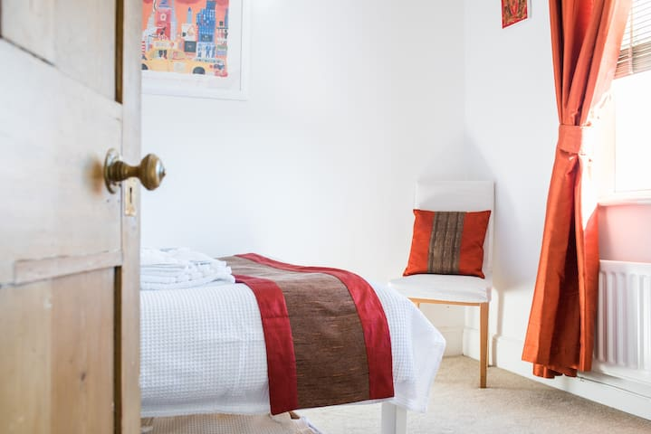 A bright and sunny double room.