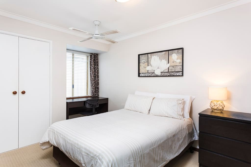 Bedroom3 will be allocated if there are 5 or 6 guests. It has a double bed, electric blanket, wardrobe and ceiling fan