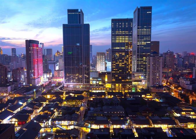 春熙路太古里公寓整租,温馨双人空间,3分钟到地铁 - Chengdu - Leilighet