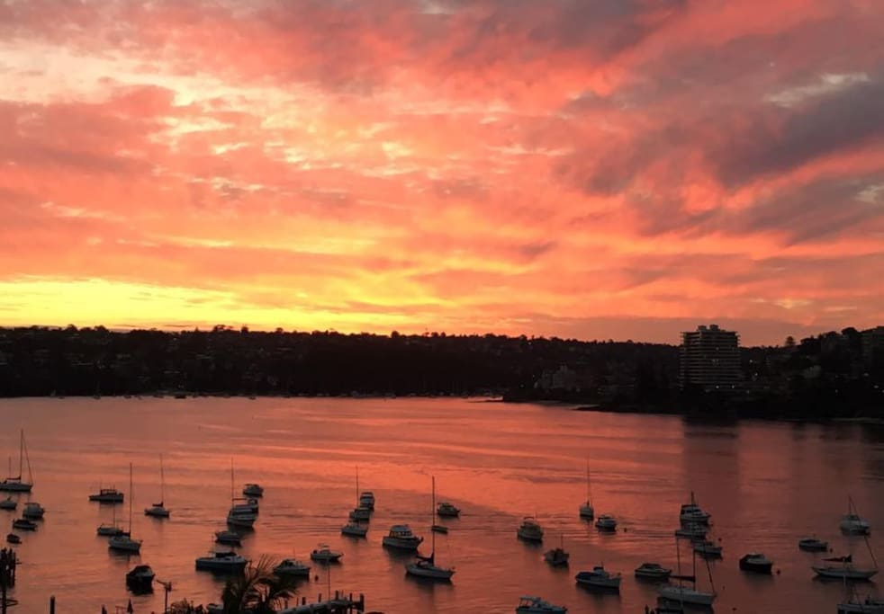 Best sunset in Manly from the balcony