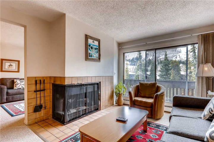 Spacious Condo on Gore Creek with Vail Mountain views from Deck. Walk to Vail Village | Apollo Park 205