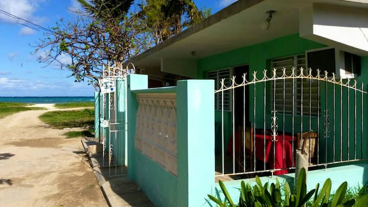 House with 2 bedrooms in Playa Santa Lucia, with wonderful sea view and furnished garden - 2 m from the beach