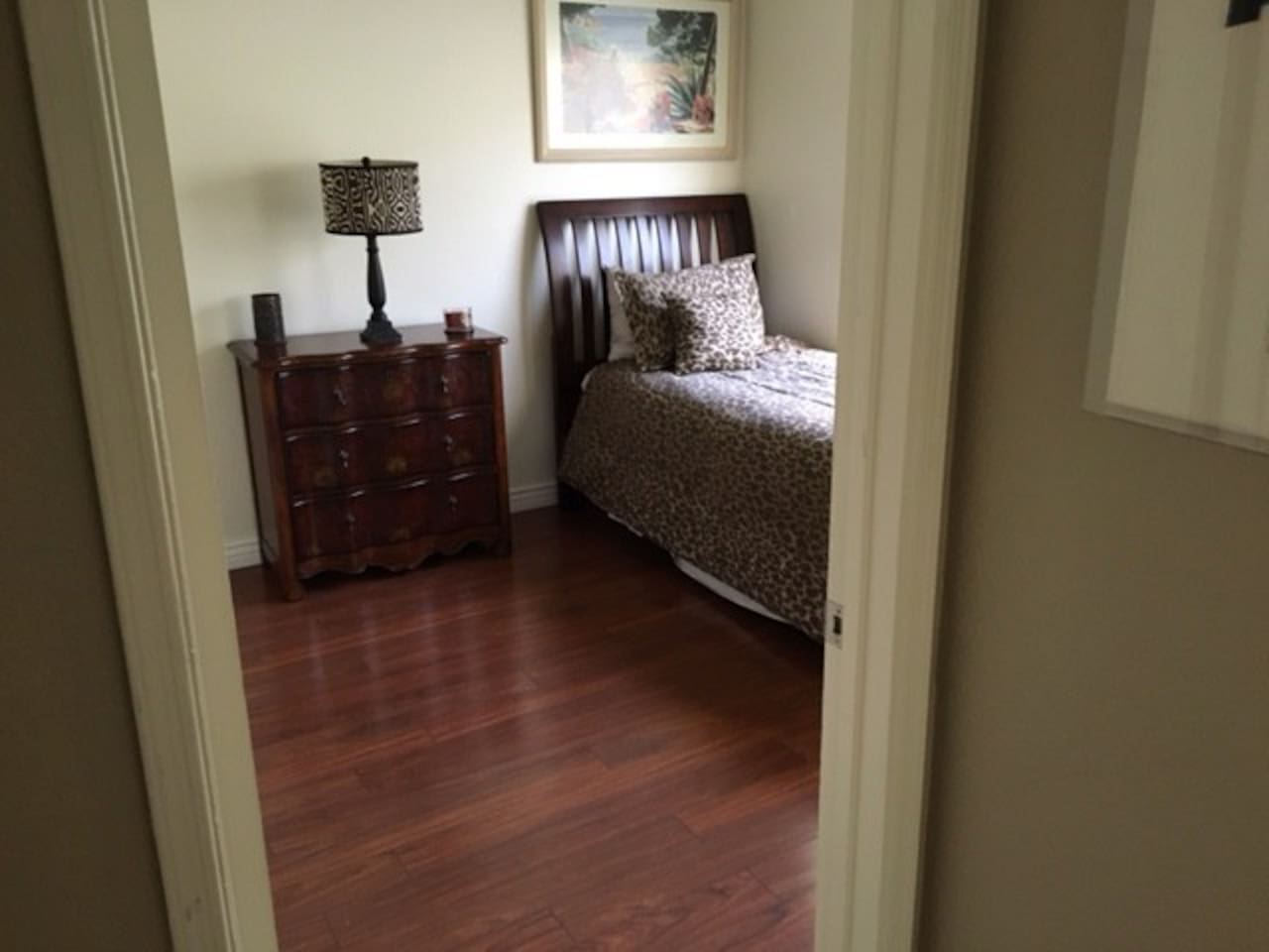 This is the bedroom available. Nice, clean and quiet on separate side of condo. Faces East so lots of sunshine in the morning.