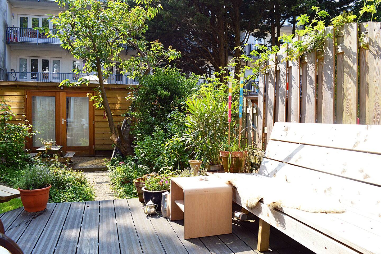 The lovely garden in to enjoy the sun