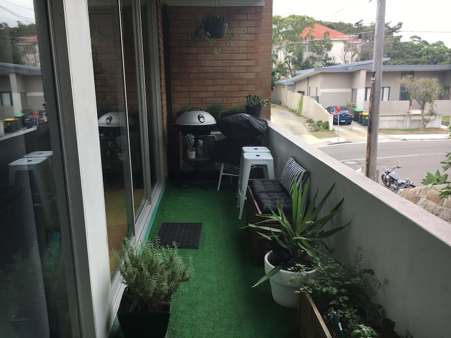 Outdoor space with BBQ