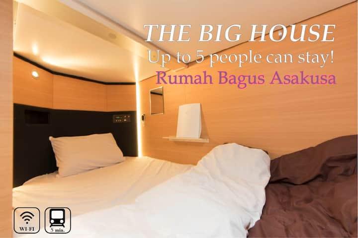 Rumah Bagus Asakusa★15p /Whole rent&WiFi sky tree