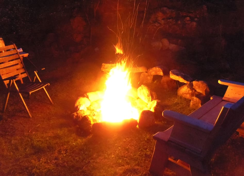 It isn't camping without a campfire!