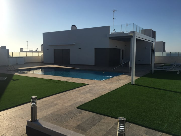 Stunning luxury villa with heated private pool