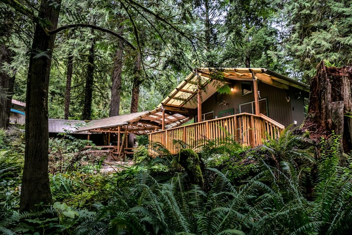Secluded creekside cabin (Ariel, WA)