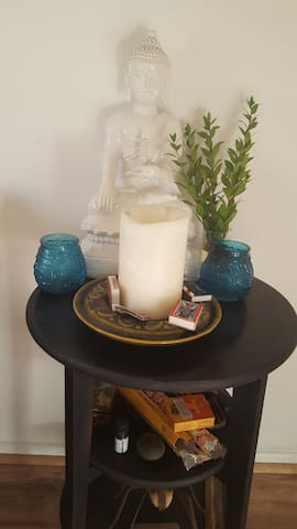 Relaxing time with candles and incense