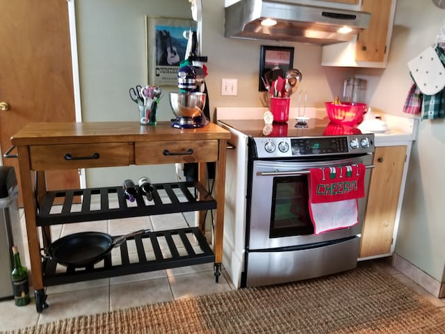 Cozy, modern kitchen with upgraded appliances.
